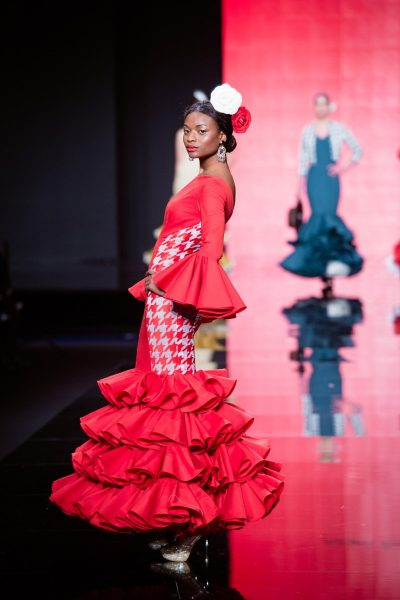 Vestido flamenca rojo lady abril simof