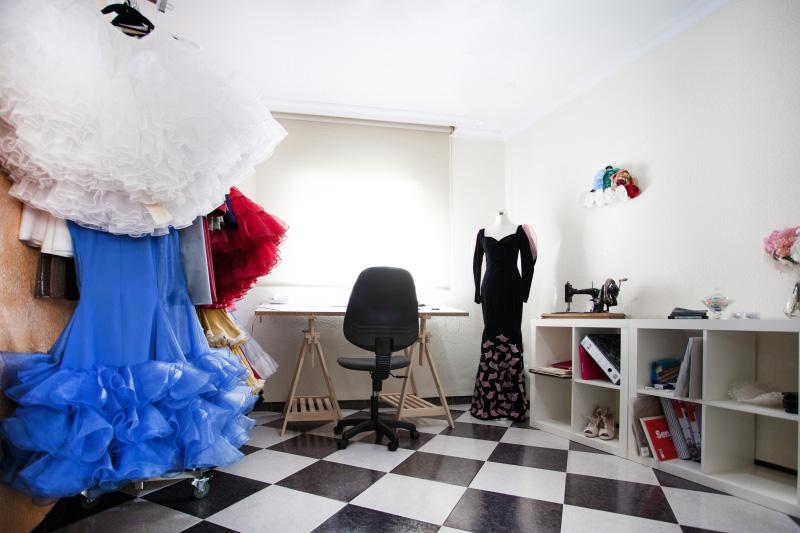 El atelier de la diseñadora.