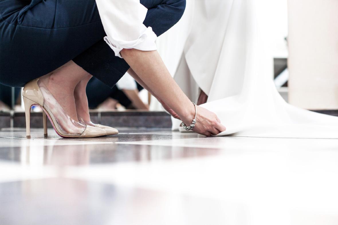 Los diseños de Ariam Beige son únicos y a medida para cada clienta
