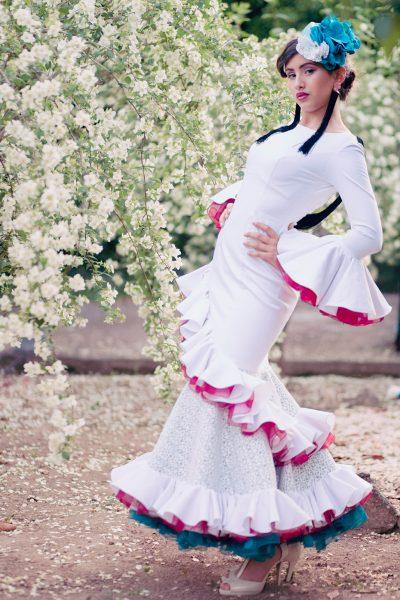 vestido flamenca airam beige