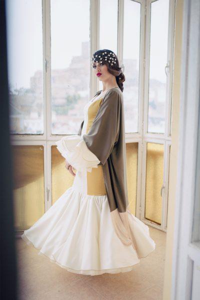 moda flamenca Airam Beige
