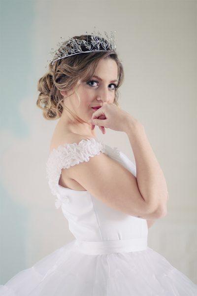 Top novia Airam Beige diseño a medida