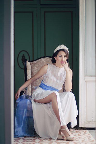 Falda pantalón novia a medida